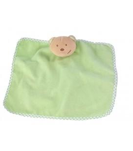 Doudou plat Ours vert carreaux Tex Baby Carrefour
