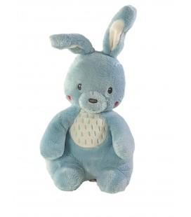 Doudou peluche Lapin bleu blanc 30 cm TEX Baby Carrefour