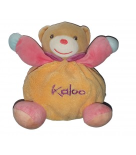 Peluche Doudou Ours Kaloo Pop orange rose bleu 15 cm