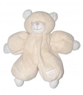 Peluche doudou ours blanc creme ecru Tartine et Chocolat 28 cm
