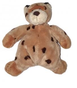 Peluche doudou OuDoudou peluche Leopard beige marron CMP 20 cmrs gris chiné assis 16 cm CMP