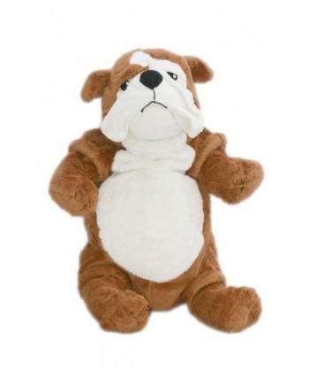 IKEa - Doudou peluche CHIEN Gosig Bulldog marron blanc - 40 cm