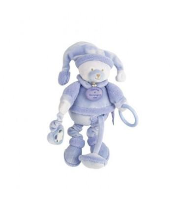 Doudou et Compagnie Ours Douceur Macaron bleu lavande Pantin activite