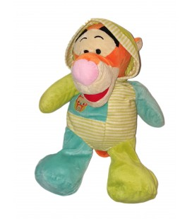 Peluche doudou Tigrou Pyjama Grenouillere bleu vert Hibou 50 cm Disney Nicotoy