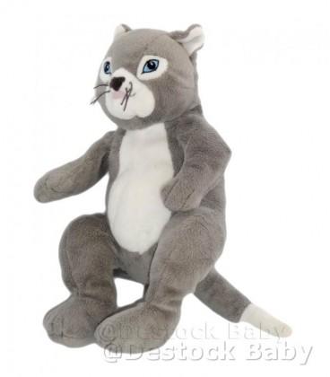 Peluche doudou Chat IKEa Gosig Katt gris blanc yeux bleus 30 cm