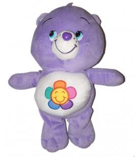 Peluche Bisounours Harmonie mauve violet fleur 32 cm Care Bears 2013 Whitehouse