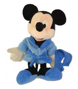 Peluche doudou Mickey Peignoir bleu serviette 30 cm Disney Nicotoy