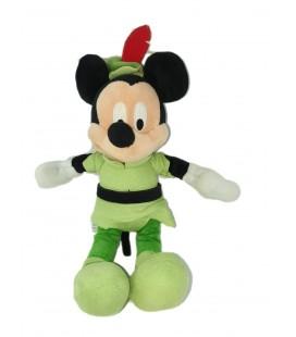 Doudou peluche Mickey Peter Pan 26 cm Disney Disneyland Resort Paris