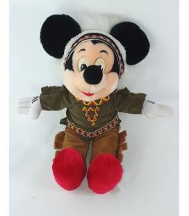 Doudou peluche Mickey Indien Peau rouge 40 cm Euro Disney COLLECTOR