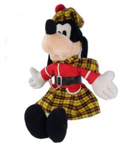 Grande peluche Dingo Goofy Deguise Ecossais 50 cm Disney