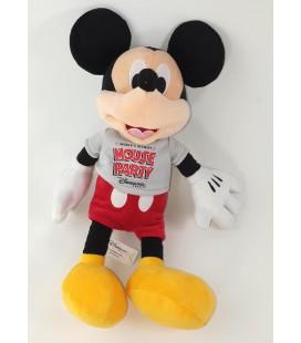 Peluche doudou Mickey Mouse Party Disnyeland Paris 35 cm