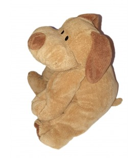 Doudou peluche chien marron 40 cm Nicotoy Animal Alley