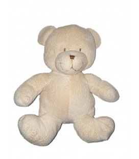 Peluche Ours blanc Nicotoy The Plushies Collection Lombok 28 cm