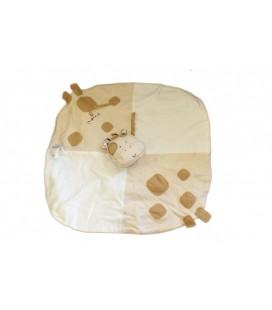 Grand doudou plat GIRAFE Vache Natures Purest beige 45 cm