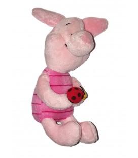Doudou peluche Porcinet Coccinelle 20 cm Disney Nicotoy 587/9702