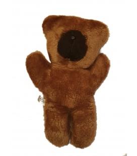 Vintage Ancienne peluche ours marron brun Chamti 32 cm