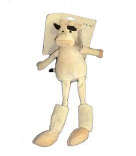Doudou VaCHE beige PLaYKIDS CMI Foulard rayé chaussettes 43 cm