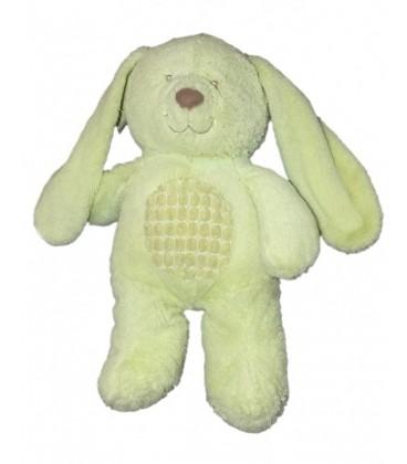 Doudou peluche CHIEN LAPIN vert TEX Baby Carrefour CMI Nicotoy 35 cm