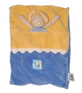 Doudou plat Souris bleu jaune Lise et Lulu Moulin Roty