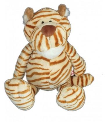 Doudou peluche tigre marron beige NICI 38 cm