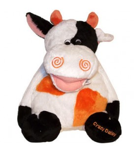 Peluche vache blanche noire orange ANNA CLUB PLUS 35 cm NEUF ETIQ.