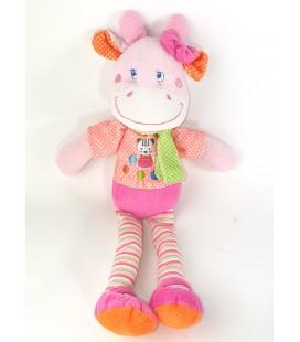 Peluche doudou Vache rose Mots d Enfants 36 cm