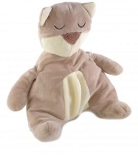 Doudou peluche Chat ours beige blanc Marc Decoma 25 cm