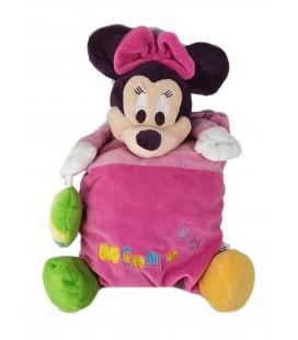 Peluche Coussin Minnie rose coeur vert Disney Disneyland Paris 40 cm