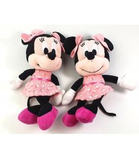 LOT DE 2 Peluches doudous Minnie 25 cm robe brillants Disney Nicotoy 587/8606