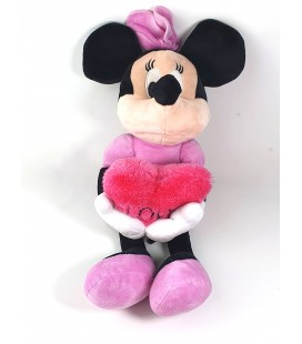 Doudou peluche Minnie Coeur Love 40 cm Disney PTS SRL