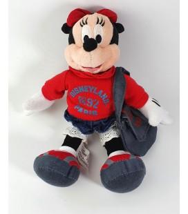 Peluche doudou Minnie 1995 Disneyland Paris 25 cm Sac bandoulière