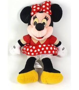 Peluche Minnie Vintage Disneyland Robe rouge pois 28 cm Euro Disney