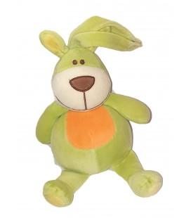 Peluche doudou Lapin vert orange 26 cm Maxita