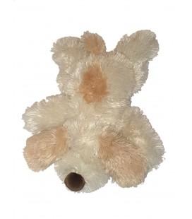 Doudou Peluche chien allonge blanc beige 38 cm Maxita