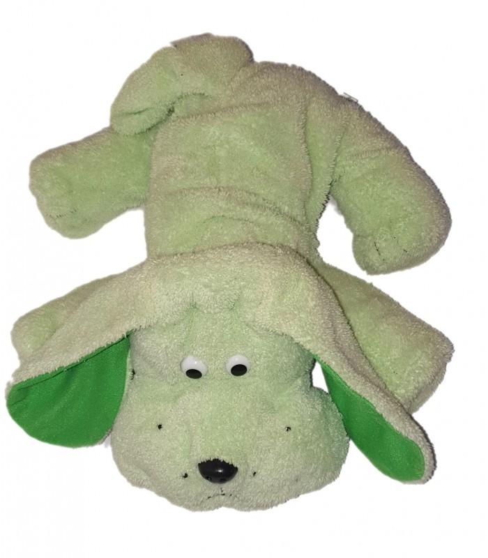 peluche doudou chien beige marron 30 cm marque verte état neuf