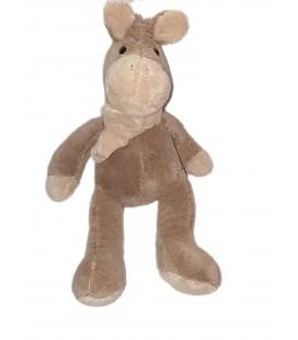 Doudou peluche cheval beige Echarpe 45 cm Maxita