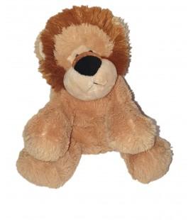Doudou peluche Lion beige nez noir 22 cm Maxita