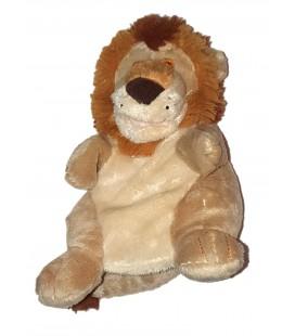 Doudou peluche Marionnette Lion beige marron 22 cm TRUDI