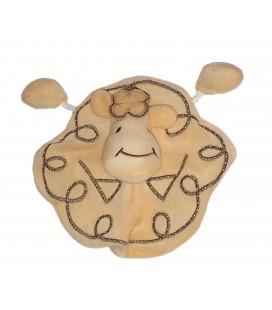 Doudou plat jaune Mouton Siplec