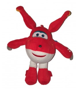 Doudou peluche Avion rouge Super Wings 24 cm Play by Play