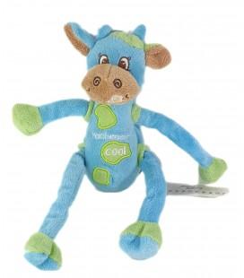 Peluche doudou vache bleue vert Vachement Cool 26 cm CMP NEUF ETIQU
