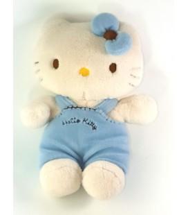Peluche doudou Hello Kitty Salopette bleue Augusta du Bay 26 cm Sanrio