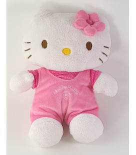 Peluche Doudou Hello Kitty Salopette rose 18 cm Augusta Du Bay 2008 Sanrio Jemini