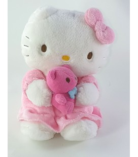 Peluche Doudou Hello Kitty Ours rose 20 cm Sanrio