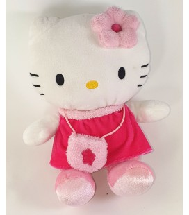 Peluche doudou HELLO KITTY sac robe Sanrio 22 cm