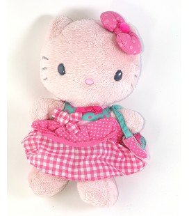 Peluche doudou Hello Kitty Camomilla jupe carreaux sac a main 22 0cm Sanrio 2010