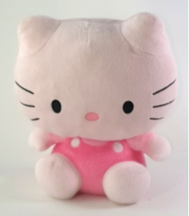 Peluche doudou Hello Kitty Rose 22 cm Sanrio TY
