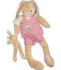 Doudou peluche lapin Sylvain et bébé MOULIN ROTY La Grande Famille 48 cm