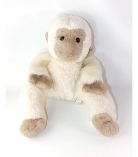 Ancienne peluche Singe blanc beige Chamti 40 cm