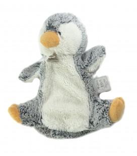Peluche marionnette doudou Pingouin gris blanc HISTOIRE D OURS
